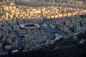 Genua - Uitzicht op stadion